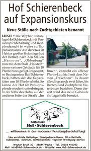 Hof Schierenbeck auf Expansionskurs